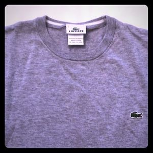 Lacoste Crew Neck Gray Sweater